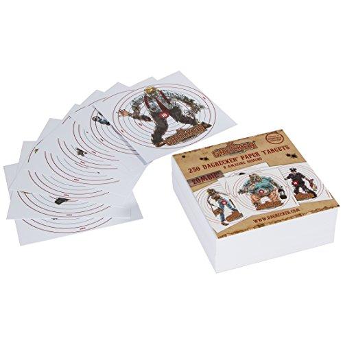 DAGRECKER Softair Zielscheiben Papier Zombie Design 250 Stück, DG006 (Zombie Zielscheiben)