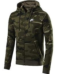 d88767d1869 Nike Sportswear Club Sweat à Capuche en Polaire avec Fermeture Éclair  intégrale pour Homme