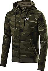 Nike Herren Sportswear Club Fleece Camo-Hoodie, Grün (Cargo Khaki/White/325), S