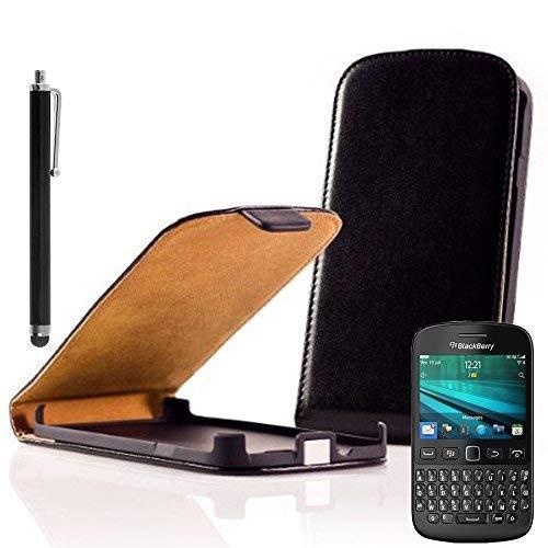 VCOMP Hülle Cover Etui Klappbar Kunstleder für BlackBerry 9720/9720 Samoa Aufnäher Flaggen Fahnen Patch Aufbügler - schwarz1 + Stylus