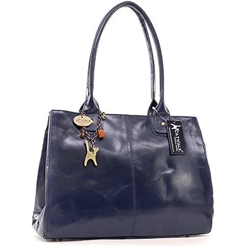 CATWALK COLLECTION - KENSINGTON - Bolso de hombro estilo shopper - Cuero vintage - Grande