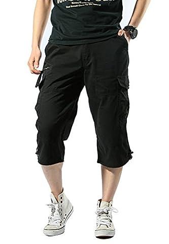 SMITHROAD Herren Cargo Short 3/4 Chino Shorts 7-Pocket-Style Kurze Hose