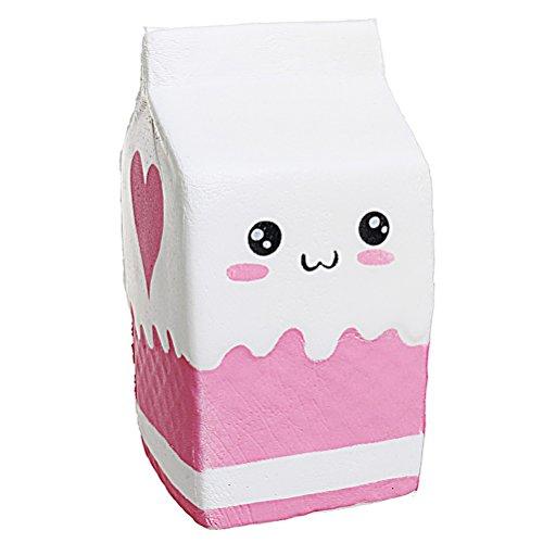 Squishy Milk Box Toys, Ruix Slow Rising Scented Cartoon Stress Relief Pressure Press Soft Toy