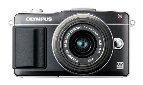 Olympus PEN E-PM2 Systemkamera (16 Megapixel, 7,6 cm (3 Zoll) Touchscreen, bildstabilisiert) Kit inkl. 14-42mm Objektiv schwarz Olympus Mini Digital