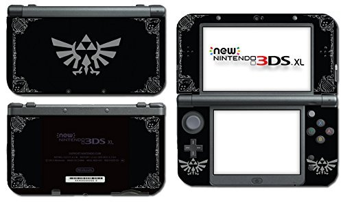 Legend of Zelda Majora's Mask Special Edition Midnight Black Grey Link Triforce Hyrule Video Game Vinyl Decal Skin Mod Sticker Cover for the New Nintendo 3DS XL 2015 System Console by Vinyl Skin Designs