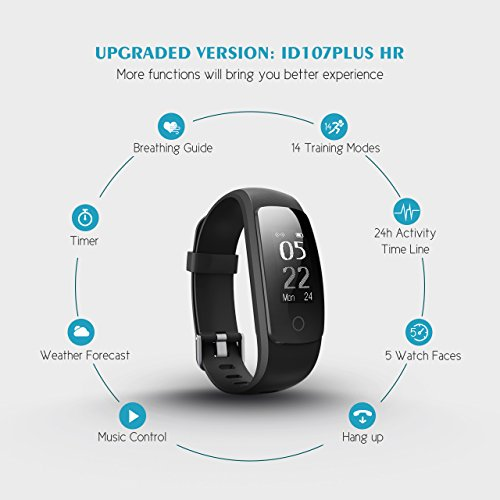 Fitness Tracker Upgraded Version Mpow Heart Rate Monitor Smart Bracelet Activity Tracker Fitness Health Smartwatch Wristband Bluetooth Pedometer With 14 Training Modes For Android And IOS Smart Phones