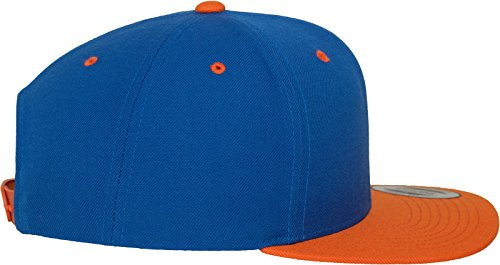 Flexfit Classic Snapback 2-Tone Kappe, Mehrfarbig, one size Royal/Orange