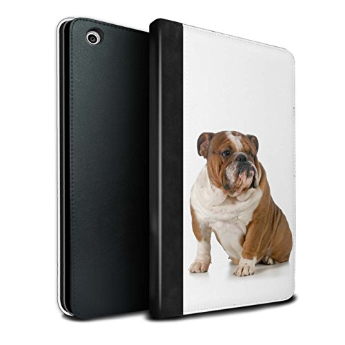 STUFF4 PU-Leder Hülle/Case/Brieftasche für Apple iPad Mini 1/2/3 tablet / Bulldogge Muster / Hund/Hunde Kollektion (Bulldogge 0.5)