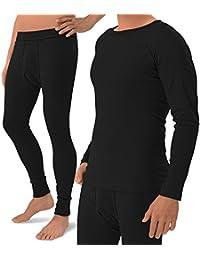 Largo Calzoncillos acanalado Set (Camisa + pantalones)–100% algodón peinado, Preencogido, 3colores–Original celo Doro Exclusive
