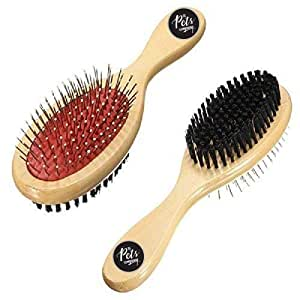 The Pets Company Dog Brush Double Sided Comb for Dogs and Cats, Large