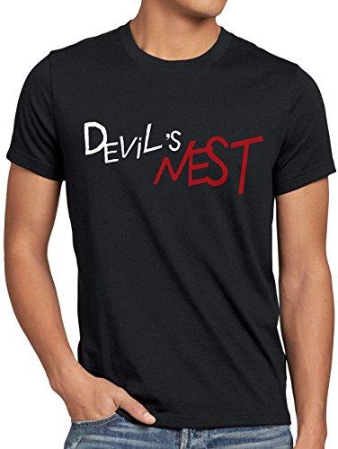 style3 Devils Nest Herren T-Shirt Jungen Kostüm Cosplay Alchemist Anime Fan-Shirt, Farbe:Schwarz, Größe:5XL