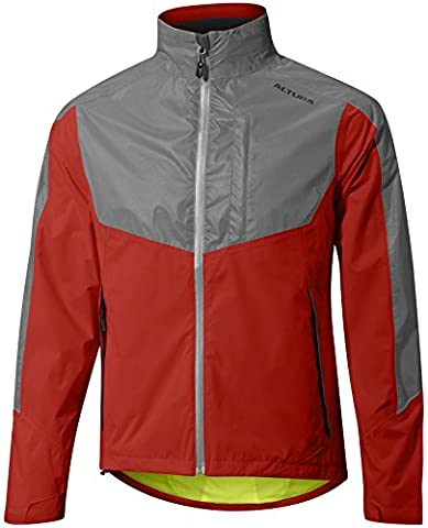 Altura Night Vision Evo Jacket - Red, XXXL / NV III 3 Darkproof Dark Technology Waterproof Rainproof Windproof Reflective Reflect Weatherproof Wet Cold Weather Season Water Rain Wind Shower Storm Resistant Repellent Bicycle Cycling Cycle Biking Bike Riding Rider Ride Commuting Commuter Commute Coat Jersey Top Upper Body Torso Shell Cover Mountain MTB Roadie Road Clothing Clothes Wear Gear Kit Apparel Attire Adult Man Men Gent Bright High Hi Viz Visibility Be Seen Traffic Safety Safe