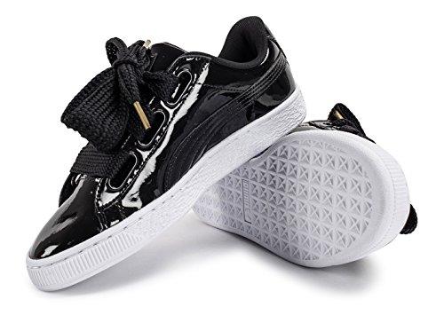 Schwarz Preto Puma puma Cesta Coração Damen Sneaker Preto puma Patente xvAvaXwq