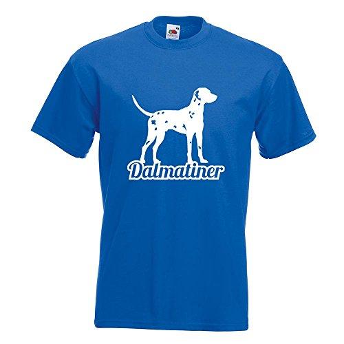 KIWISTAR - Dalmatiner mit Name Hunderasse T-Shirt in 15 verschiedenen Farben - Herren Funshirt bedruckt Design Sprüche Spruch Motive Oberteil Baumwolle Print Größe S M L XL XXL Royal