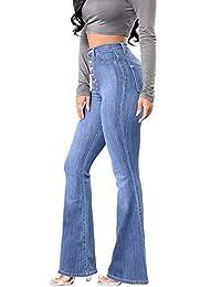 Yanlian Donna Denim Pantaloni Jeans Leggings Pantalone a Matita Casuale  vestibilità Slim Vita Alta Fondo Pantaloni bcf6033e55c