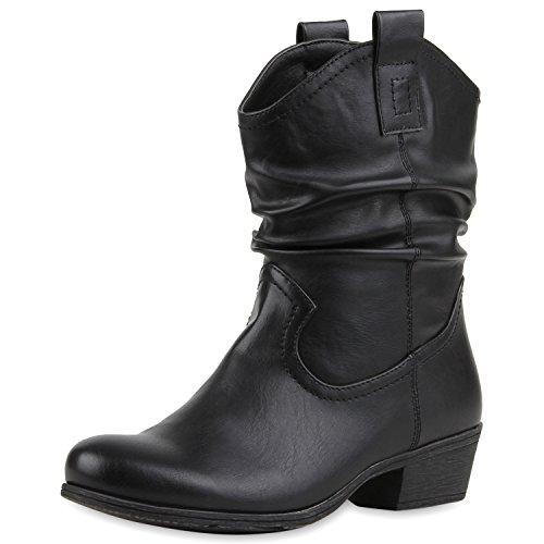 napoli-fashion , Bottes Western femme Noir