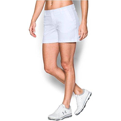 Under Armour Damen Verbindungen Shorty 4IN Golf Shorts - Weiß - UK 20 (Golf Weiße Shorts)