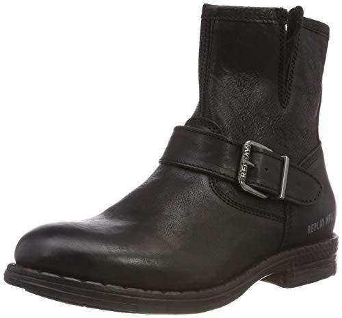 Replay Herren Captain Biker Boots, Schwarz (Black 3), 45 EU