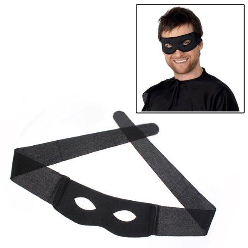 Lomire Schwarz Maske Bandit Augenmaske,Kostüm Maske Highwayman räuber Kostüm Schwarz Bandit ()