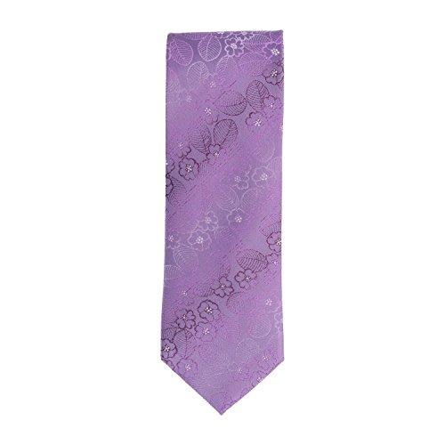 Silk Ties classico cravatta seta floreale viola 8,5