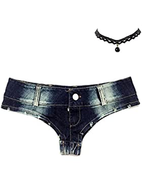 M-Queen Donna Pantaloni Estivi 2017 Denim Casuale Shorts Vita Bassa Hot Pants Jeans Slim Pantaloncini