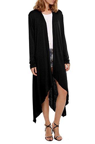 Donne cardigan lungo a manica lunga aperto asimmetrico cardigan maglia elegante moda per estate primavera autunno invernale