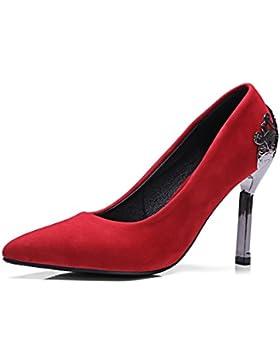 HUA&X Donna PUNTALE APPUNTITO di bocca poco profonda Prom Stiletto Tacchi Alti Wedding Corte pompe scarpe
