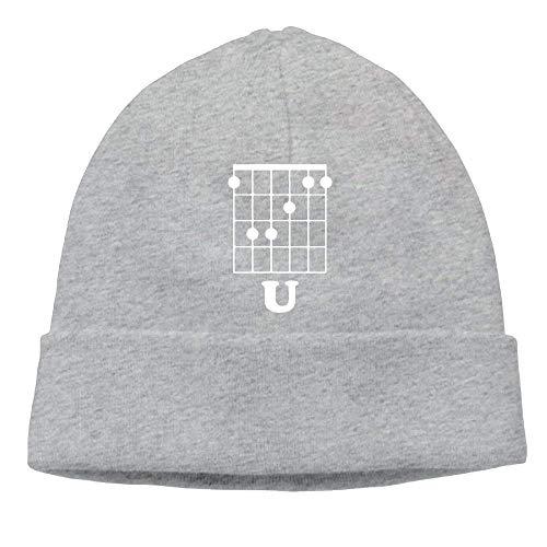 Preisvergleich Produktbild WCMBY Funny Beanies Momen's Guitar F Chord Fashion Travel Black Beanies Hat