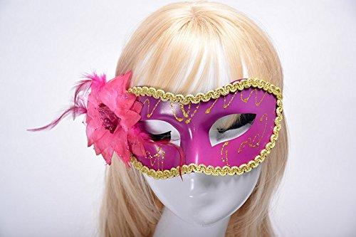 tfxwerws fashioncarnival Party Ball Venezianische Federn Fancy Kleid Masquerade Kostüm Maske (schwarz) -