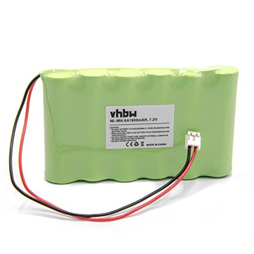 vhbw Batería MiMH 1800mAh (7.2V) para estimulador muscular Compex Fitness, Fitness Tens, Medicompex, Mi-Fitness Trainer, Mi-Sport 500, Sport 2.