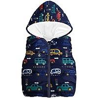 Ropa Bebe Niña,Buzos Bebe,Niño Pequeño Niños Niñas Niños Sin Mangas Car Print Waroded Watercoat Tops