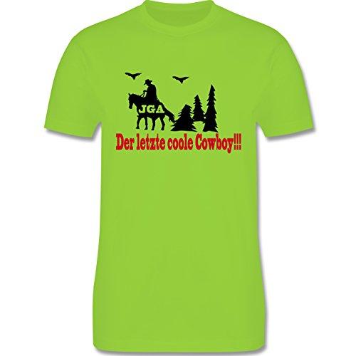 JGA Junggesellenabschied - Der letzte coole Cowboy - Herren Premium T-Shirt Hellgrün