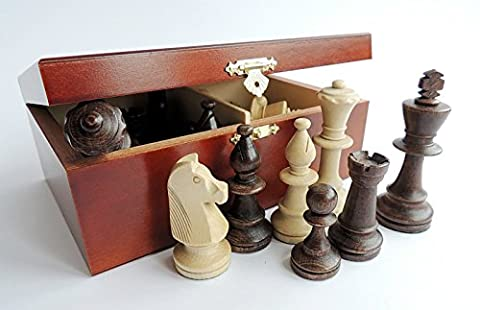 C167 Professional Staunton No.5, Weighted Wooden Chess Pieces in Stylish