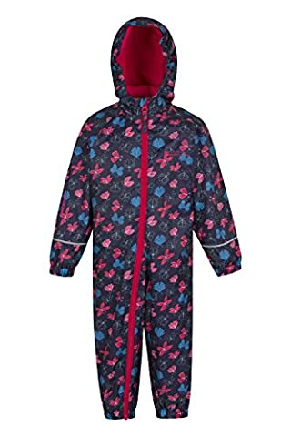 Mountain Warehouse Spright Junior Printed Rain Suit - Breathable, Waterproof