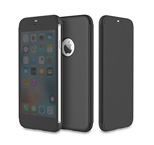 Gozmos for Original ROCK Dr.V Flip Case Cover For iPhone X , Smart View Ultra Slim Full Screen Window Touchable Smart UI Translucent Touch Sensible Hard Case For iPhone 10/ iphone x -Black  available at amazon for Rs.1199