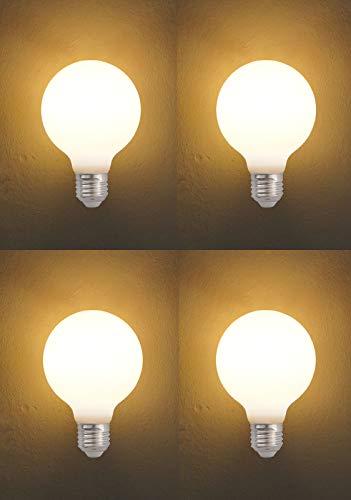 CangNingShang Vintage Edison-Glühbirne, Antik-Glühlampe, dimmbar, entspricht 60 W, für Loft Café, Bar, Küche, Zuhause, E26/E27 Sockel, G80, 220 V, weiße Glühbirne in warmweißem Licht -