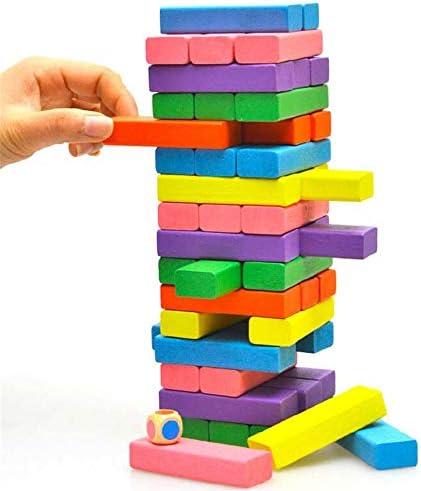 TOYA Wooden Jeu de société société société de Couleur Cognitive pour  s Jeu de Puzzle en Bois pour Adulte Décontracté pompage 48 Couleurs superposables   Moelleux Et Léger  318f82