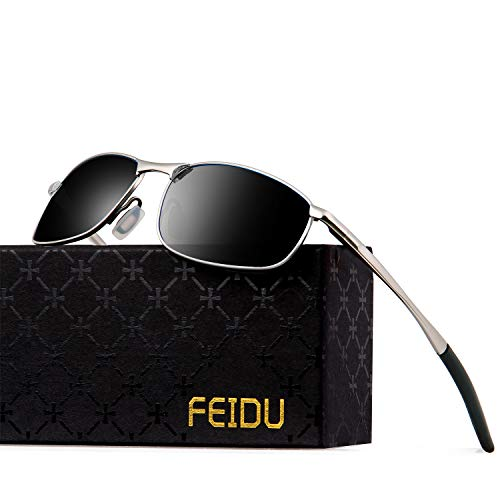 d9aebe24d5 FEIDU Sport Polarized Sunglasses for Men Stylish HD Lens Metal Frame Men s  Sunglasses FD 9005 (