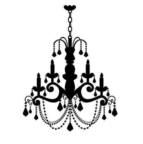 PVC Grand Old Fashion Candela Lampadario Stickers murali Adesivi in   vinile Home Decor per soggiorno 59x78cm
