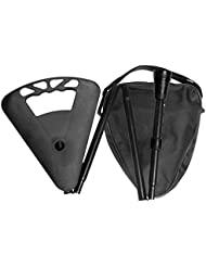Bâton de marche, Place assise, sac à bandoulière pliable et réglable en hauteur incluse couleur noir