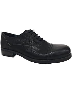 FABBRICA DEI COLLI scarpa donna allacciata nero con inserti moro mod 217001032