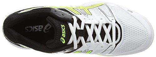 Asics Gel-rocket 7, Chaussures de Volleyball Homme Blanc (white/flash yellow/black 0107)