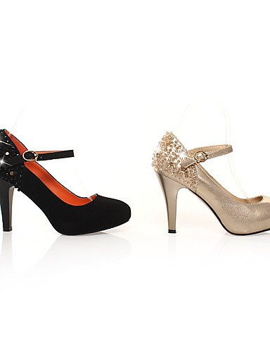WSS 2016 Chaussures Femme-Mariage / Bureau & Travail / Soirée & Evénement / Habillé / Décontracté-Noir / Or-Talon Aiguille-Talons / Confort / golden-us8.5 / eu39 / uk6.5 / cn40
