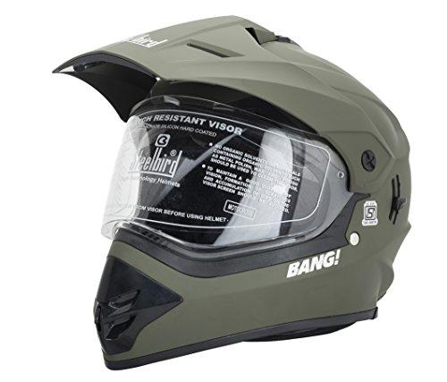 SB-42 Bang Motocross Battle Green Full Face Helmet