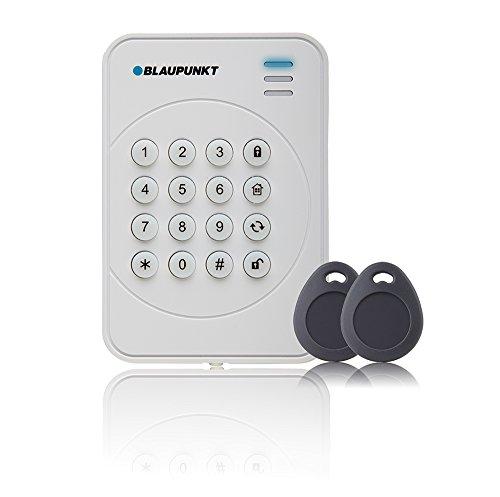 Blaupunkt Funk-Bedienteil KPT-S1 mit RFID-Tag Reader I Zubehör für Alarmanlagen von Blaupunkt I Bedienteil inkl. 2 RFID-Tags für die Bedienung ohne Pin-Code I 1 Stück I Weiß