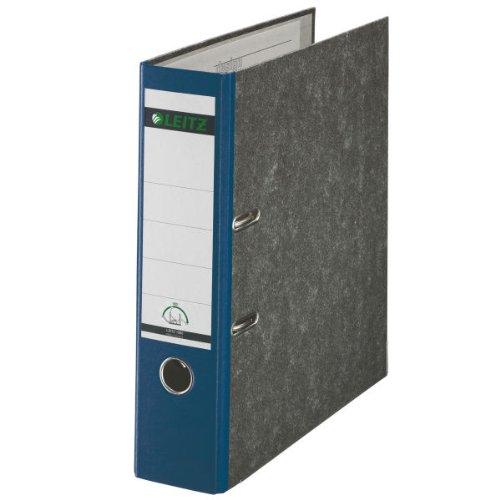 Leitz 10805035 Qualitäts-Ordner Wolkenmarmor-Papier (A4, 8 cm Rückenbreite) blau