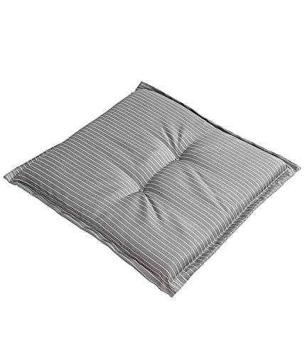 Dehner Sitzkissen Astana, ca. 50 x 50 x 6 cm, Polyester, grau/weiß -