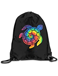 05e7101987f11 Men s and Women s Drawstring Backpack Bag Tie Dye Hawaii Turtle Sports Gym  Bag String Backpack