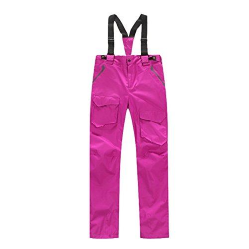 YiLianDa Pantaloni Sportivi Impermeabile Softshellhose Pantalone Da Trekking Invernali Autunno Inverno Viola(Donna)