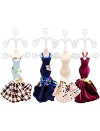 585dff63883d Lote de 5 Elegantes Maniquís Anilleros con Vestidos(Surtidos).  Complementos. Joyas y